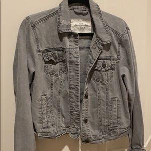 Abercrombie denim gray jacket! Large